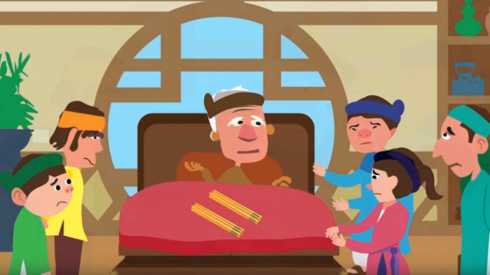 Kể chuyện cổ tích:  Cha mẹ nuôi con bể hồ lai láng, con nuôi cha mẹ kể tháng kể ngày