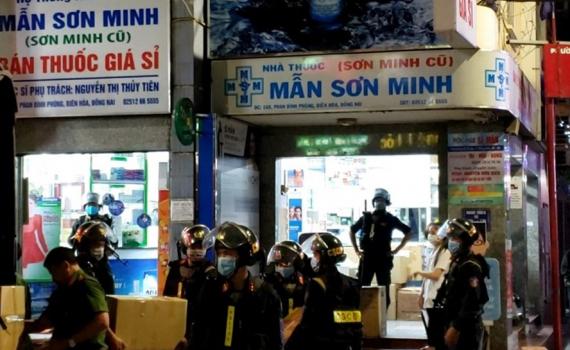 Khám xét 3 nhà thuốc tây ở Đồng Nai: Tạm giữ 220 thùng thuốc, giá 5 tỉ đồng
