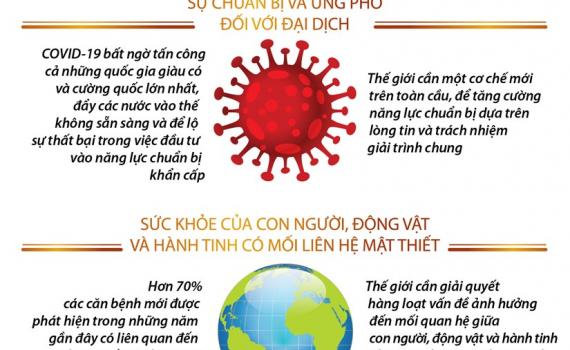 Infographics: WHO nêu bật 3 bài học từ đại dịch COVID-19