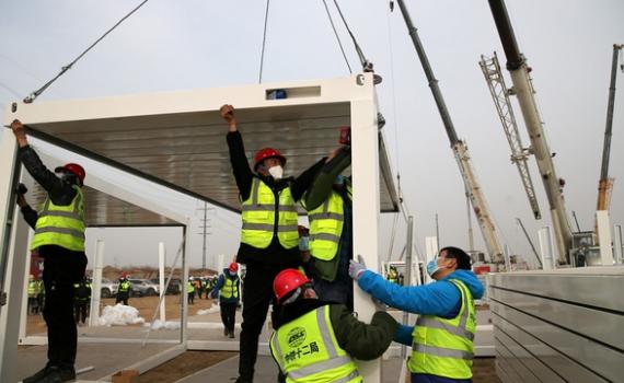 Trung Quốc xây thần tốc bệnh viện Covid-19 1.500 phòng trong 5 ngày