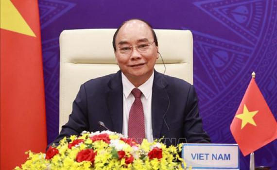 Chủ tịch nước Nguyễn Xuân Phúc dự khai mạc Hội nghị thượng đỉnh về khí hậu