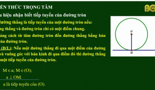 Dạy học trên truyền hình - Hình học lớp 9: Tiếp tuyến của đường tròn