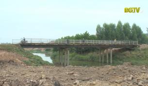 Sửa chữa cầu trên đường tỉnh 298 để đảm bảo giao thông