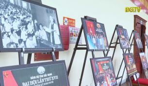 Trưng bày ảnh tại Đại hội Đảng bộ tỉnh Bắc Giang lần thứ XIX