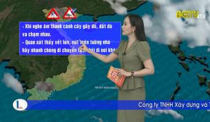 Bản tin thời tiết ngày 25 - 08 - 2021