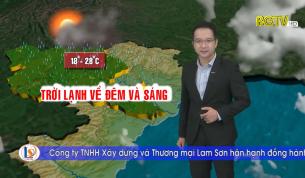Bản tin thời tiết ngày 27 - 10 - 2021