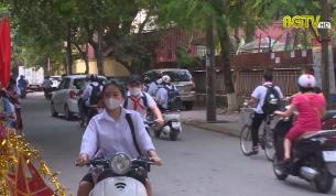 Lộn xộn TTGT khu vực cổng trường tiểu học Ngô Sỹ Liên TP.Bắc Giang