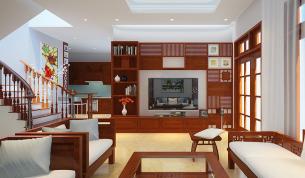 Nội thất gỗ tự nhiên cho nhà lô phố