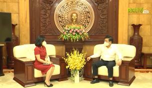 Bí thư Tỉnh ủy Dương Văn Thái trao đổi về những kết quả nổi bật và kinh nghiệm đúc kết của Bắc Giang về công tác bầu cử