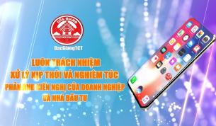 BacGiangTCT- kênh thông tin tương tác giữa nhà đầu tư và UBND tỉnh Bắc Giang